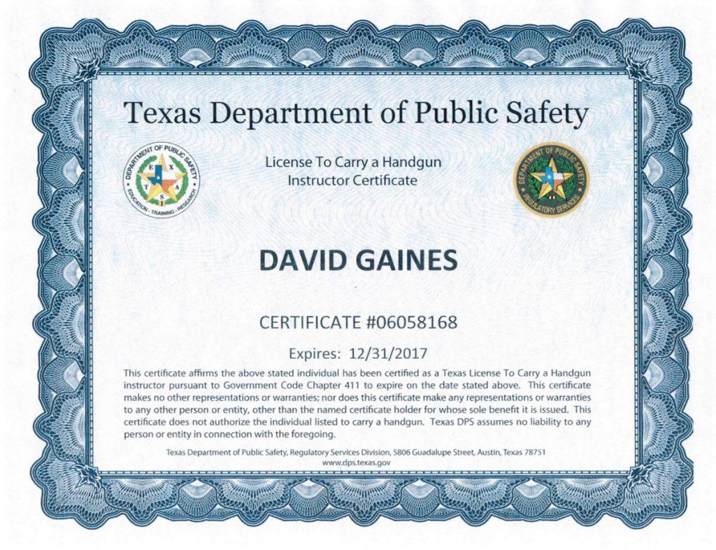 Houston spring ltc courses firearms training classes about david gaines ltc 2 27 2017 xflitez Image collections
