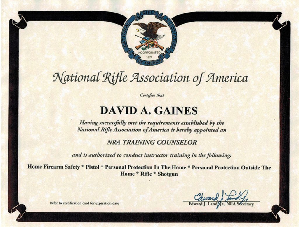 Houston spring ltc courses firearms training classes about david gaines instructor 1betcityfo Images