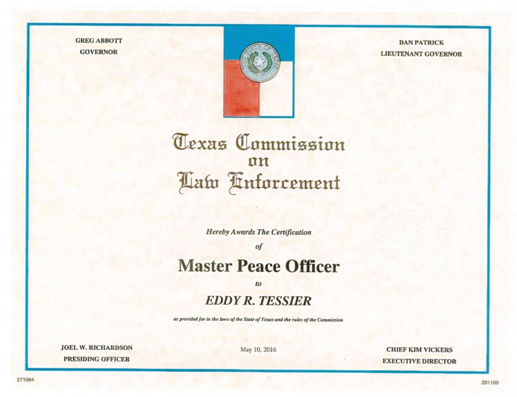 Houston spring ltc courses firearms training classes about eddy tessier master police officer certificate000082 xflitez Images