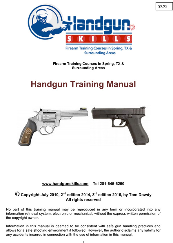 Training Manual  Houston  Spring Ltc  Firearm Training Classes